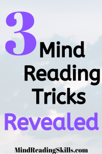 3 mind reading tricks revealed