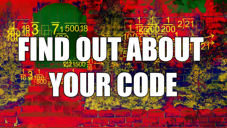 find out about your code here