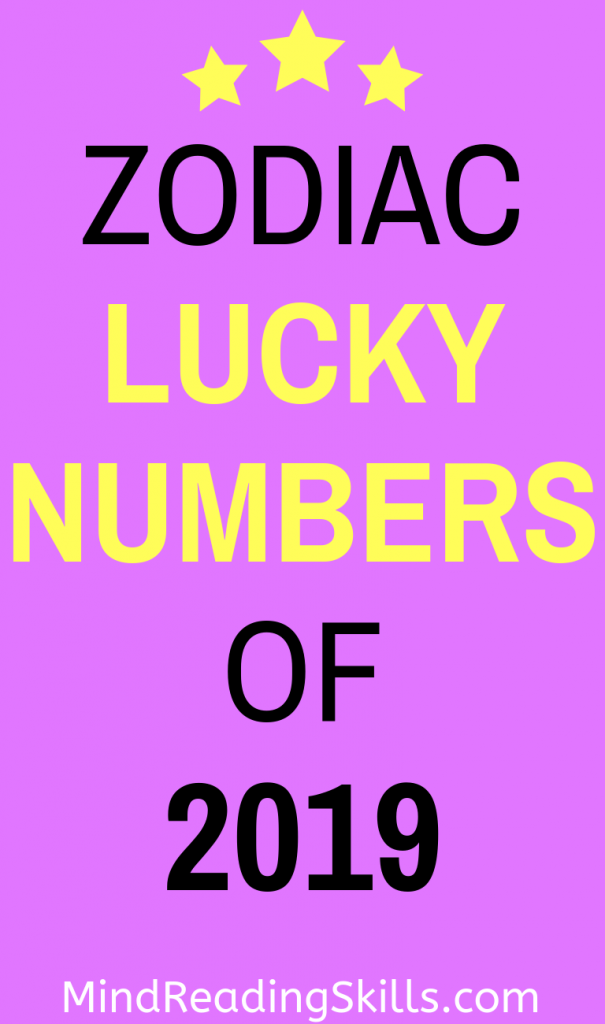 Your zodiac lucky numbers of 2019